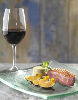 Recipe - Duck breast, pan fried figs with honey, cep mushroom flan, bordeaux wine sauce