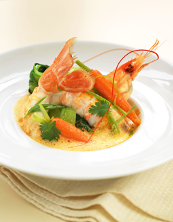 Recipe - Tangy langoustine and crunchy seasonal vegetable soup