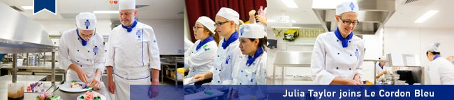 Julia Taylor - MasterChef contestant at Le Cordon Bleu Sydney school