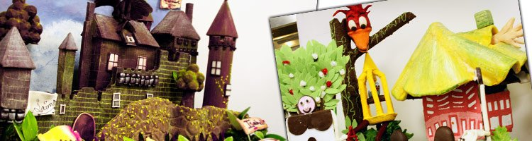 Chocolate work from LCB London Superior Patisserie students