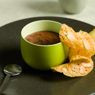 Chocolate Mousse with Orange Tuiles