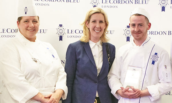 UK Scholarship Award 2016, Kieron Murphy with Clare Smyth and Master Chef Julie Walsh