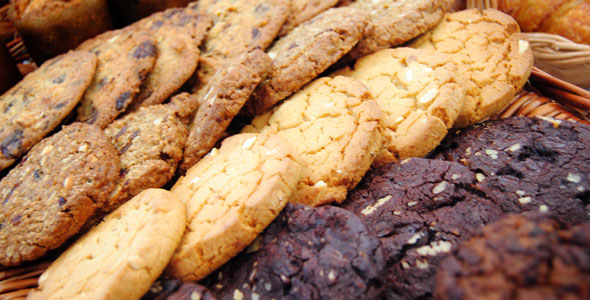 Chocolate cookies at Cafe Le Cordon Bleu