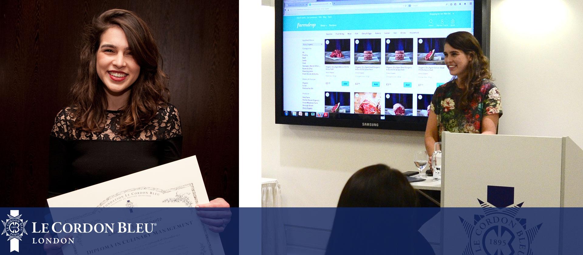 Alumna Lara Espirito Santo visits Le Cordon Bleu London
