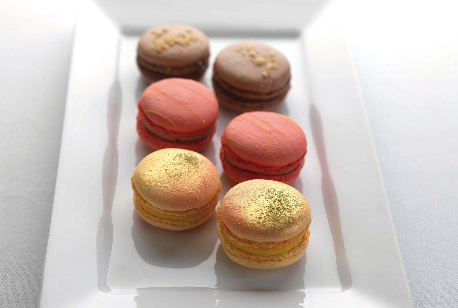 Christmas macaroons, three ways