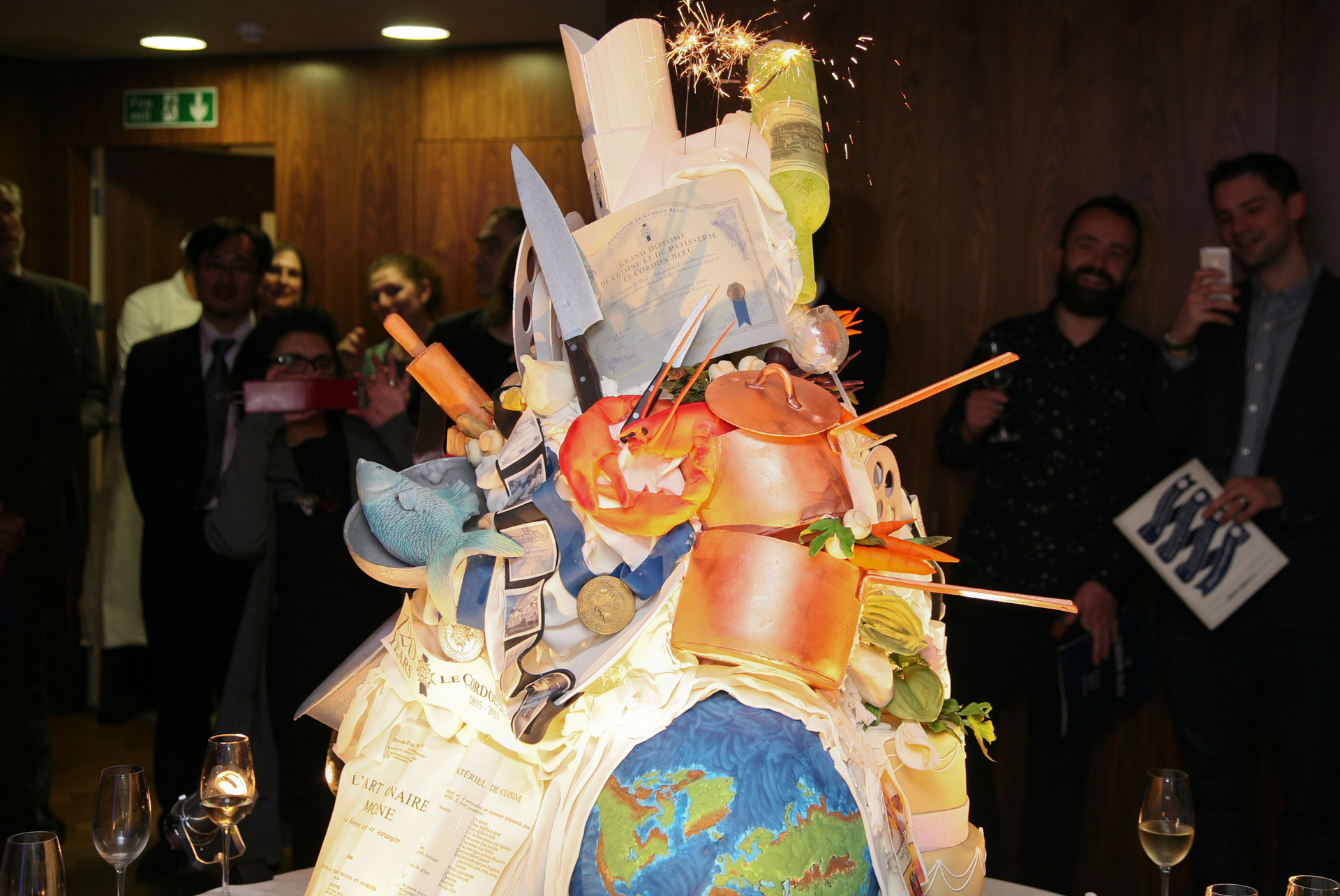 Le cordon bleu london -celebration cake 120 years anniversary