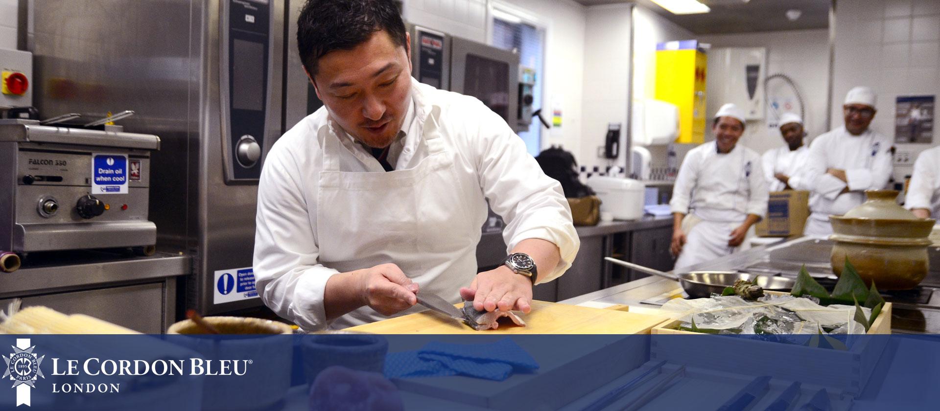 Chef Kazutoshi Endo at Le Cordon Bleu London